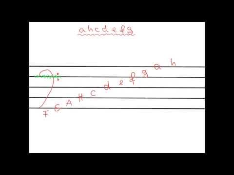 Das Notenalphabet im Bassschlüssel