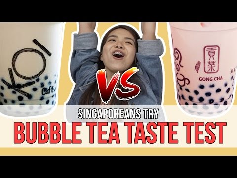 Singaporeans Try: Bubble Tea Taste Test | EP 85