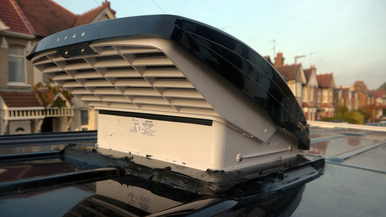 maxxair fan install on mercedes sprinter campervan  [ 1280 x 720 Pixel ]