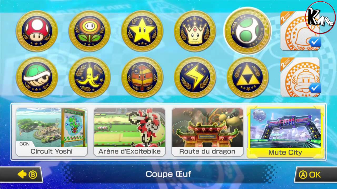 Mario kart 8 coupe oeuf les raccourcis wii u youtube for Coupe miroir mario kart wii