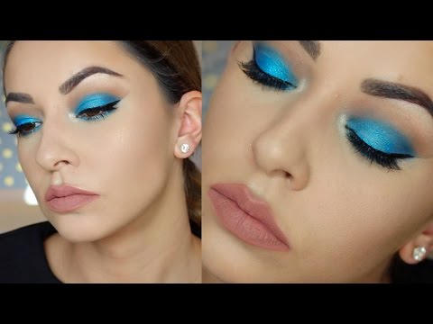 Blue Eye Makeup Tutorial for Hooded Eyes