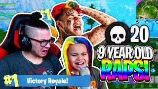 "9 YEAR OLD KID RAPS LIKE 6IX9INE ON FORTNITE WTF! ""GOTTI"" FORTNITE FUNNY BATTLE ROYALE MOMENTS!"