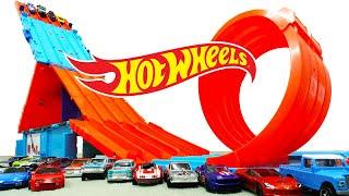 ホットウィール レース ワーゲン ポルシェ コルベット フェアレディ ロードスター NSX ダッジ フォード シボレー コルベット ランボルギーニ ホンダなど人気車種がコースを疾走そして一回転ループ