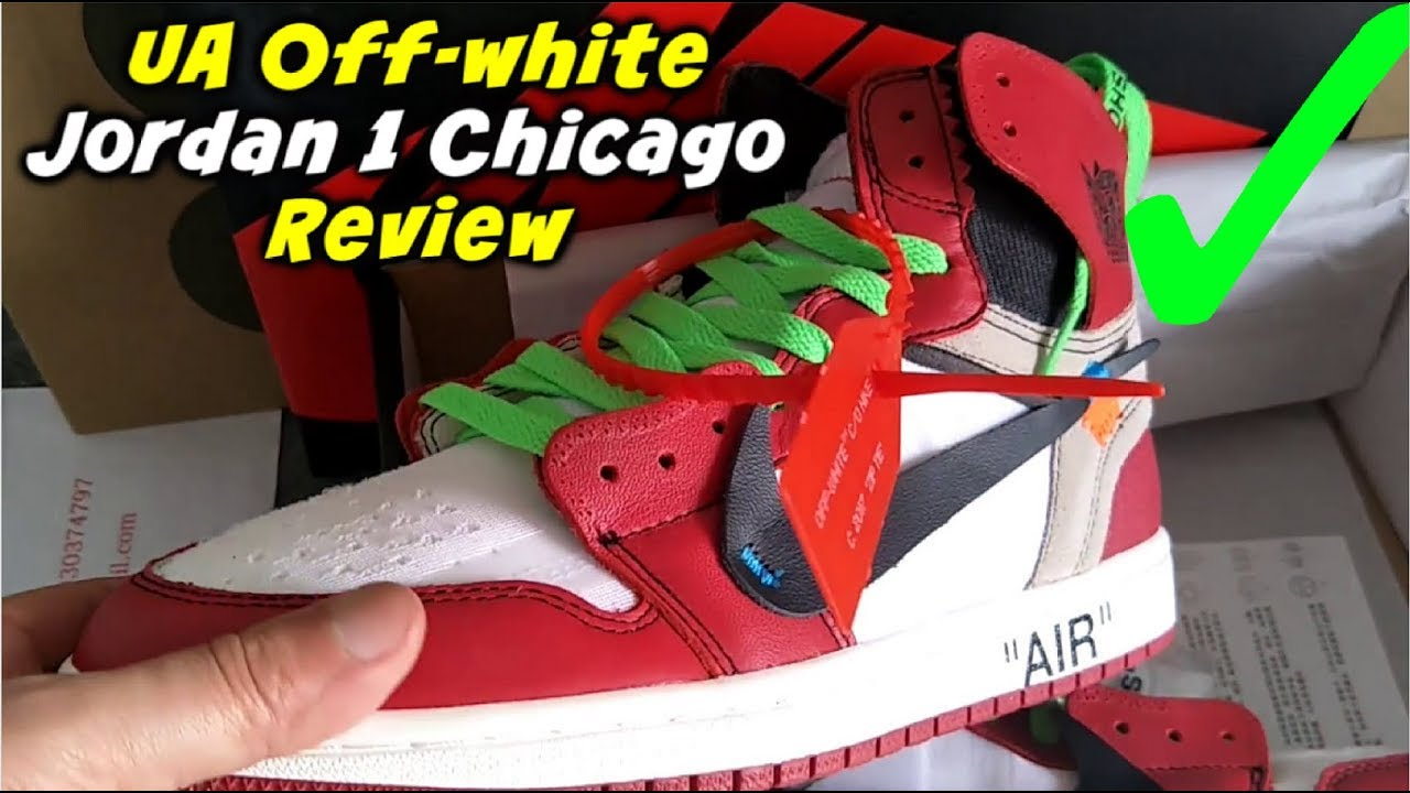 best service b3737 18e64 UA Air Jordan 1 Chicago Off white Review | Jordan Off-white Unboxing Review  👟