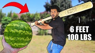crushing-satisfying-things-with-a-giant-100lbs-baseball-bat-world-record-sized