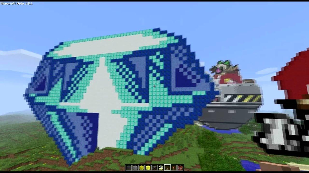 minecraft sonic the hedgehog pixel art youtube