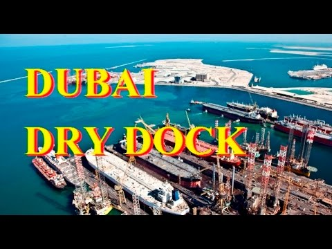 Dubai Dry Dock view - Port Rashid in Dubai, United Arab Emirates