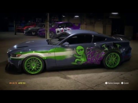 Need for Speed 2015 -  NFS Underground 2 Alien  Invasion Unique Vinyl