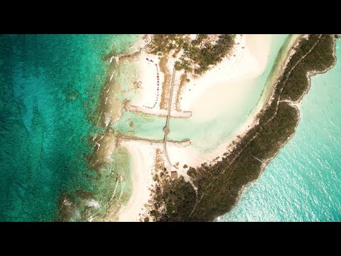 Paradise In Blue Lagoon Nassau Bahamas From A Drone