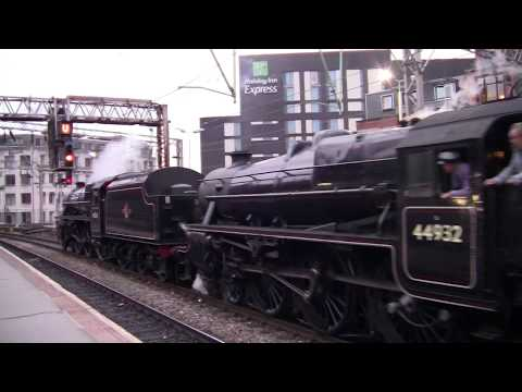 Oxford Road Railway Station, Manchester - featuring LMS 5MT 44932 and 45231