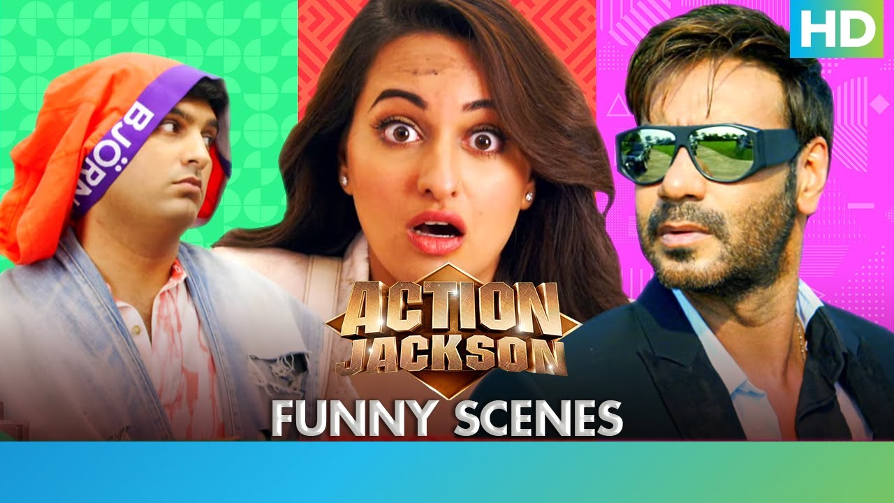 Download Action Jackson - Best Comedy Scenes - Ajay Devgn, Sonakshi Sinha & Yami Guatam