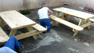 Picnic Table Building [putting Together] Race!