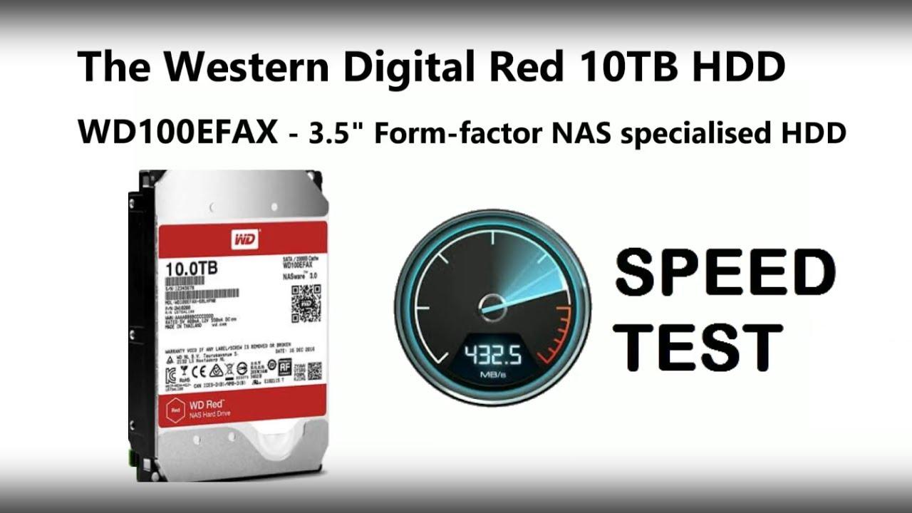 WD 10TB Red NAS Hard Drive BlackMagic Speed Test - WD100EFAX
