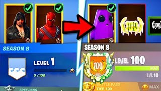 How to RANK UP FAST in Fortnite Season 8! UNLOCK MAX LUXE & MAX BLACKHEART FAST! (Season 8 XP Tips)!