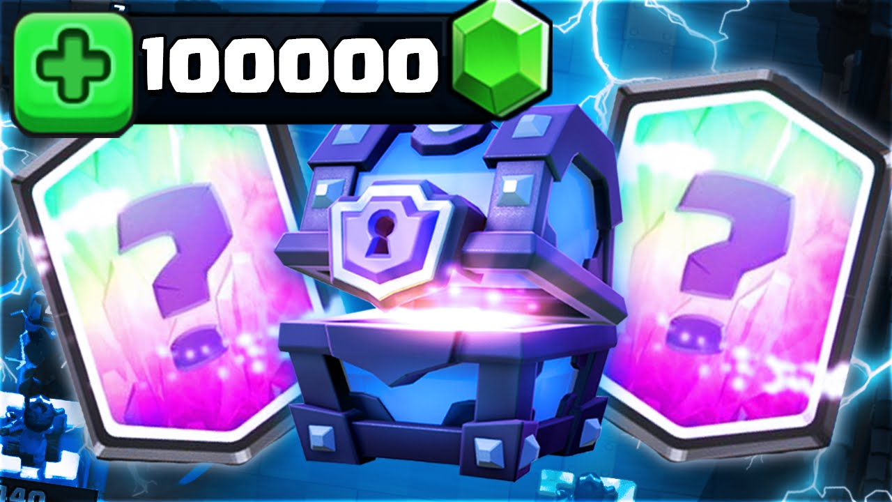 Clash Royale - UNREAL 100,000 GEMS SUPER MAGICAL CHESTS OPENING!  BUYING/GEMMING LEGENDARY CARDS $800