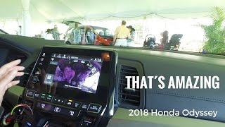 2018 Honda Odyssey amazing info entertainment system demonstrarion in Hawaii