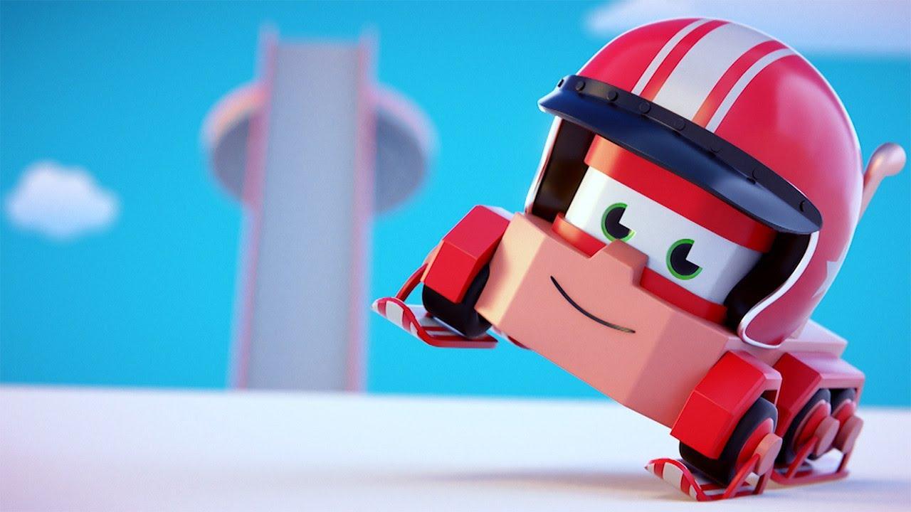 Truck videos for kids - The Ski Jump - Truck Games