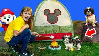 Paw Patrol and PJ Masks taken by Bad Dog Wiggles with the Assistant Mickey Mouse Camping Set