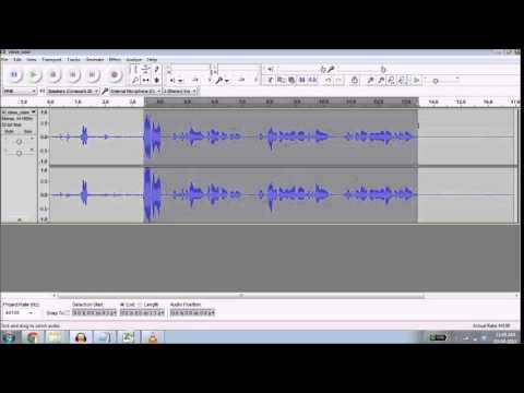 Tutoriel: Traitment de L'Audio (Français)