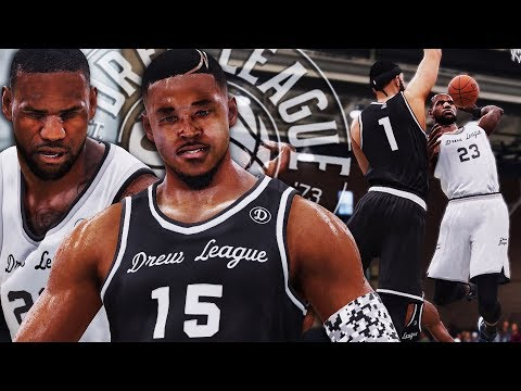 BROKE P.GEORGE ANKLES! LBJ POSTERIZES MCGEE @ Drew League - NBA LIVE 18 THE ONE #5