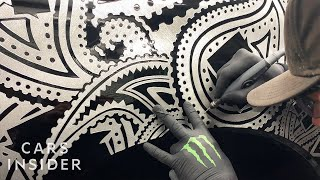 Artist Engraves Intricate Designs On Cars
