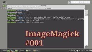 ImageMagick - Bilder mit Text erstellen