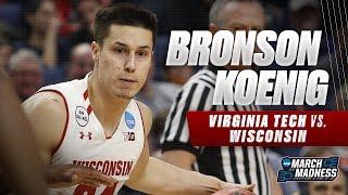Wisconsin's Bronson Koenig drops 28, leads Badgers past VT
