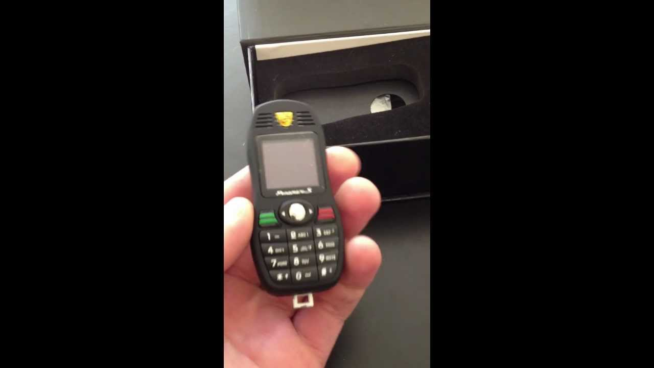 worlds smallest mobile phone porsche car key - YouTube