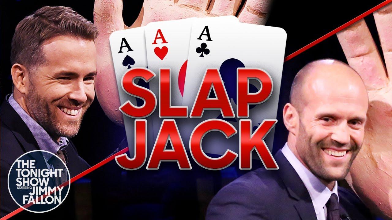 Tonight Show Slapjack with Ryan ReynoldsandJason Statham