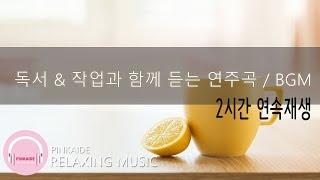 2시간 연속 듣기 | 독서 & 작업과 함께 듣는 연주곡 | 피아노 | 연주곡