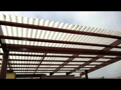 Puertas autom ticas fierro madera sistemas de seguridad for Modelos de techos de madera y chapa