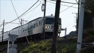 伊豆急下田駅付近のJR東日本185系踊り子号