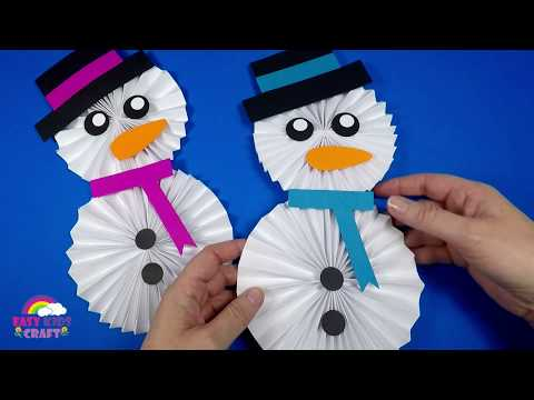 how-to-make-a-paper-snowman-|-christmas-craft-for-kids