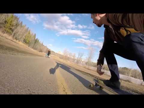 Icy Longboarding Adventures - Edmonton River Valley