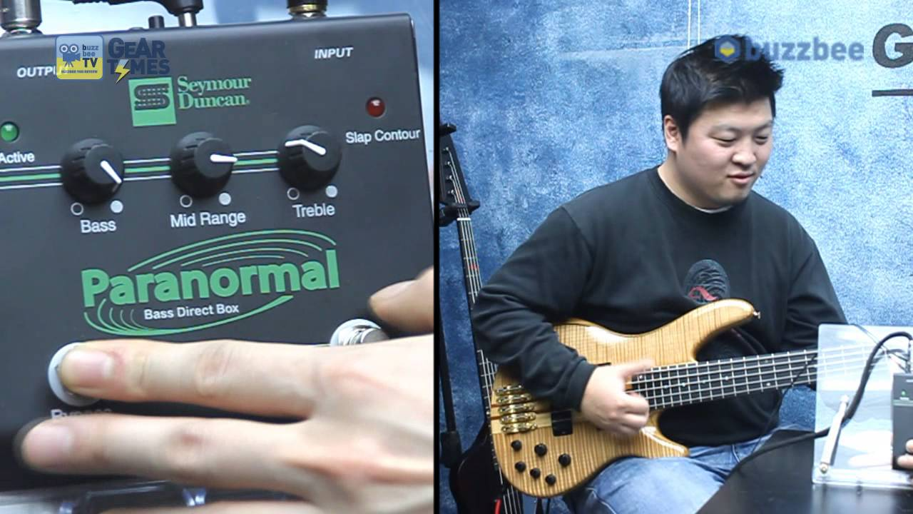 Seymour Duncan 베이스이펙터 Paranormal Bass DI SFX 06 - YouTube