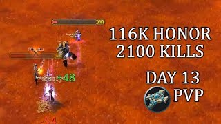 116K Honor 2100 HKs - Day 13 | Priest PvP Honor Farming WoW Classic