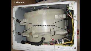 Ремонт стиральной машины Samsung, замена подвесных пружин барабана.