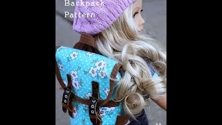 How To Make A Backpack For American Girl (18 Inch) Doll Craft