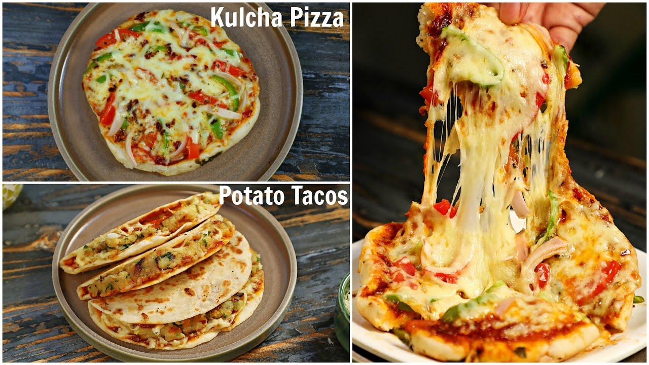 PIZZA Kulcha & TACO Recipe - Homemade Fusion Recipes | CookWithNisha