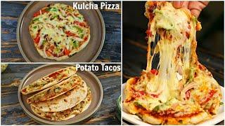 PIZZA Kulcha &amp TACO Recipe - Homemade Fusion Recipes  CookWithNisha