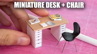 Miniature Desk and Chair // How to Sculpt the World's Tiniest Desk
