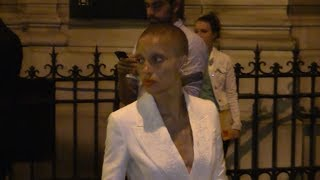 EXCLUSIVE : Rumored Cara Delevingne girlfriend Adwoa Aboah coming out of the Vogue Party in Paris