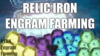 Destiny Engram Farming | Relic Iron Chest Run | Destiny Farming