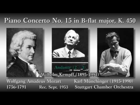 Mozart: Piano Concerto No. 15, Kempff & Münchinger (1953) モーツァルト ピアノ協奏曲第15番 ケンプ