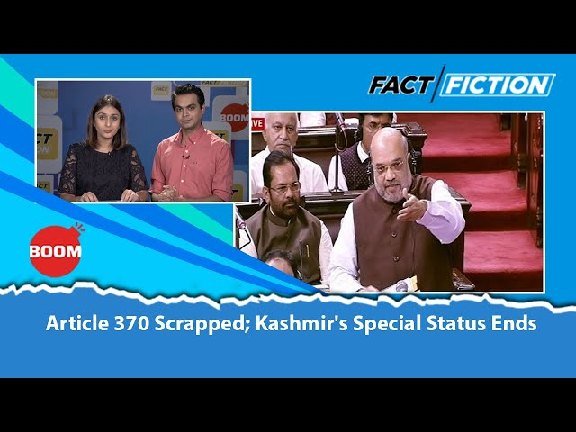 Article 370 Scrapped; Kashmir's Special Status Ends