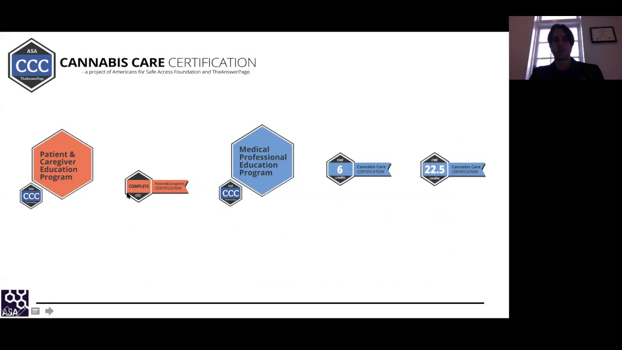 What Is Cannabis Care Certification Webinar May 24 2017 Youtube