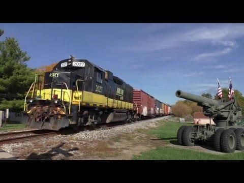 Ashland Railway train to West Salem ASRY 2027 on the Erie Lackawanna