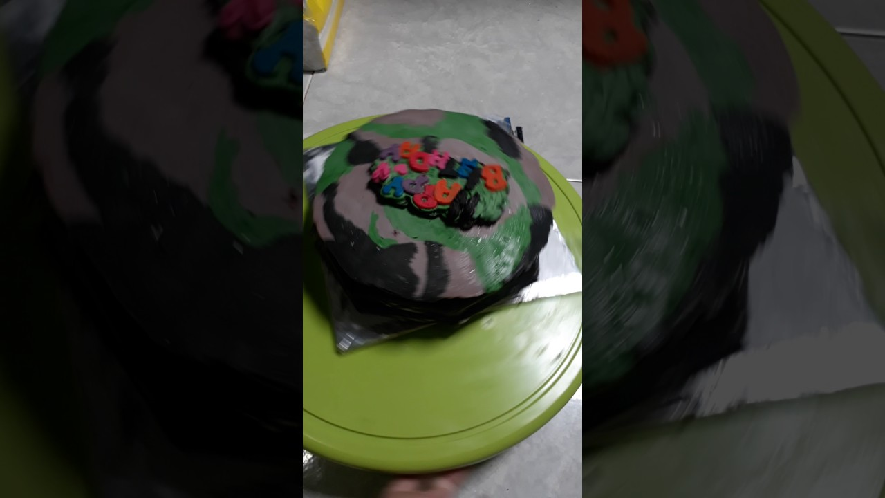Roti Ulang Tahun Motif Tentara Youtube