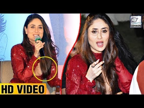 Kareena Kapoor Tries To Cover Her Cleavage With Hair | LehrenTV thumbnail