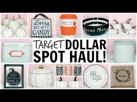 TARGET DOLLAR SPOT HAUL! ♡ HALLOWEEN & FALL 2017 ♡ FALL DECOR